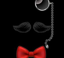 Funny Mustache Glasses Bow Tie iPod / iPhone 4 / iPhone 5  Case by CroDesign