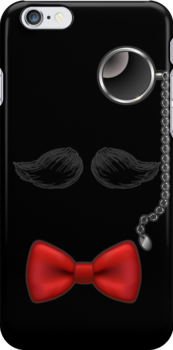 Funny Mustache Glasses Bow Tie iPod / iPhone 4 / iPhone 5  C / Samsung Galaxy Cases / Pillow / Tote Bag  by CroDesign