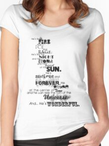 He's Wonderful! Women's Fitted Scoop T-Shirt