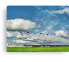 The Reds Break For Landing - Dunsfold 2008 Canvas Print