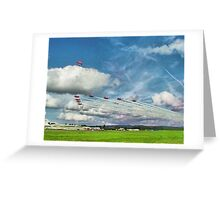 The Reds Break For Landing - Dunsfold 2008 Greeting Card
