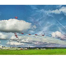 The Reds Break For Landing - Dunsfold 2008 Photographic Print