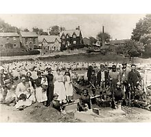 Sheep dipping in Victorian Bratton, Wiltshire Photographic Print