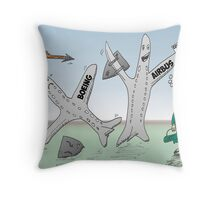 Airbus vs Boeing for Cathay Pacific Throw Pillow