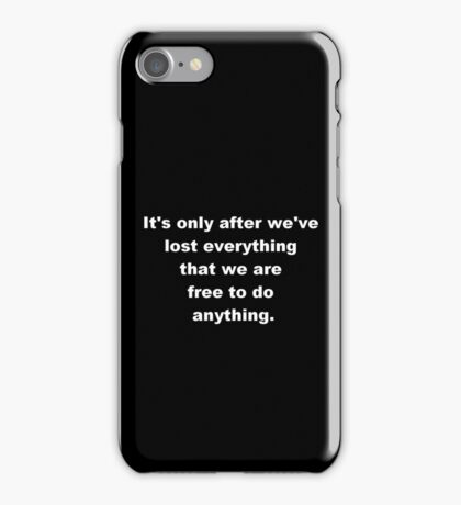 Fight Club Quote Black With White Letters iPhone Case/Skin