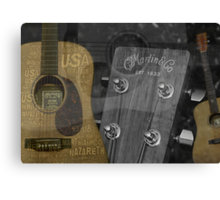 Martin and Co Guitars Canvas Print