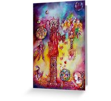 GARDEN OF THE LOST SHADOWS ,FAIRIES AND BUTTERFLIES Greeting Card