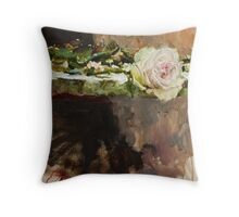Pearl Rose Throw Pillow