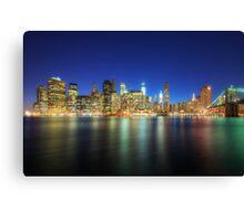 Manhattan Nite Lites NYC Canvas Print