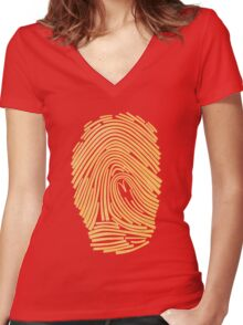 Corporate Identity Women's Fitted V-Neck T-Shirt