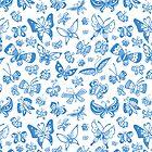 Blue Butterfly Case by ShakeyIllustra