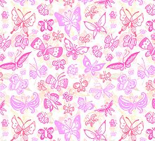 Pink Butterfly Case by ShakeyIllustra
