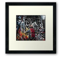 the heat of the battle Framed Print