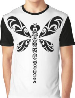 Tribal Dragonfly Tattoo Graphic T-Shirt