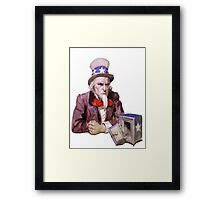 Uncle Sam with Empty Treasury Framed Print