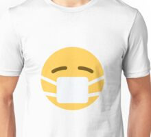 Face with medical mask emoji Unisex T-Shirt