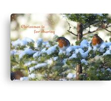 Christmas is for sharing Canvas Print