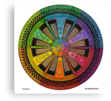 Mandala 43 drawing rainbow 1 Canvas Print