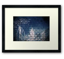 Abandoned Blue #00 Framed Print