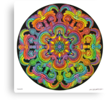 Mandala 31 drawing rainbow 1 Canvas Print