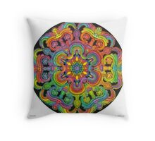 Mandala 31 drawing rainbow 1 Throw Pillow
