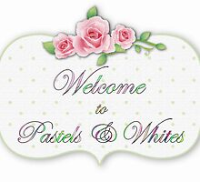 Pastels & Whites Welcome Banner by Morag Bates