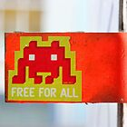 London Street Art - MacDonalds very own Space Invader by jahina