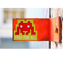 London Street Art - MacDonalds very own Space Invader Photographic Print