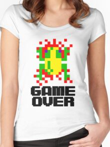 Frogger - Game Over Women's Fitted Scoop T-Shirt
