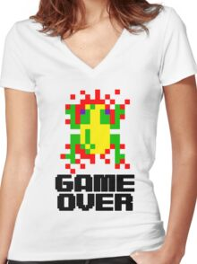 Frogger - Game Over Women's Fitted V-Neck T-Shirt