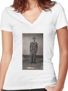 Nice try Bounty hunter! Women's Fitted V-Neck T-Shirt