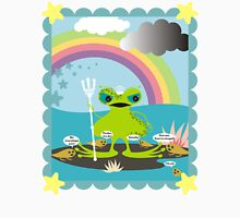 angry god neptune frog worshiping tadpoles Womens Fitted T-Shirt
