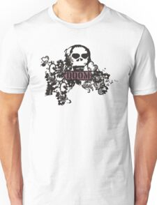 black gothic lace doom skull Unisex T-Shirt