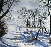 Winter Path to Dane's Dyke by Glenn Marshall