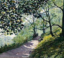 Brief Respite - Dane's Dyke in Summer by Glenn Marshall