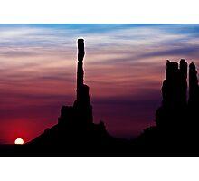 Sun dawns at Totem Pole Photographic Print