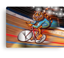 Olympic Cycling Tiger Canvas Print