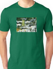A Garden of White Daisy Flowers Unisex T-Shirt