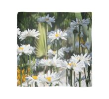 A Garden of White Daisy Flowers Scarf