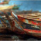 Tema Boats Aligned by Wayne King