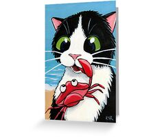 Curiosity Nipped the Cat Greeting Card
