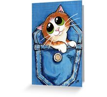 Sweet Ginger the Pocket Kitten Greeting Card