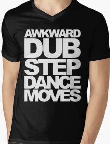 Awkward Dubstep Dance Moves (white) Mens V-Neck T-Shirt