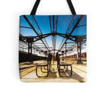 Train Station Benches India Tote Bag