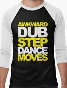 Awkward Dubstep Dance Moves (yellow/white) Men's Baseball ¾ T-Shirt
