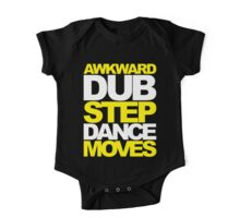 Awkward Dubstep Dance Moves (yellow/white) One Piece - Short Sleeve