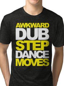 Awkward Dubstep Dance Moves (yellow/white) Tri-blend T-Shirt