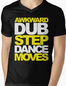Awkward Dubstep Dance Moves (yellow/white) Mens V-Neck T-Shirt