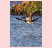 Canada Geese in flight One Piece - Long Sleeve