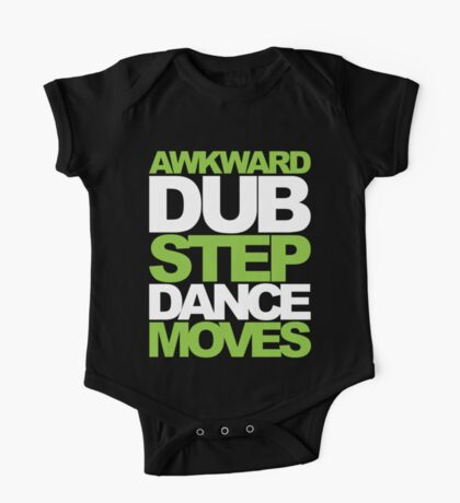 Awkward Dubstep Dance Moves (neon/white) One Piece - Short Sleeve